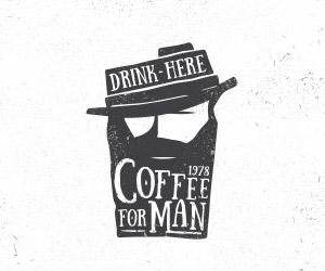 โลโก้ร้านกาแฟ Coffee for man